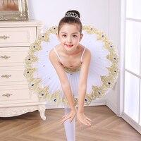 Professional Ballerina Ballet Tutu Dress For Child Children Kids Girls Pancake Leotard Dance Swan Lake Costume Ballet Dress
