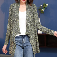 Brand Knit Cardigan 2019 Early Spring Women Cardigan Sweater New Irregular Slim Cardigan Thick Needle Blended Outerware Female