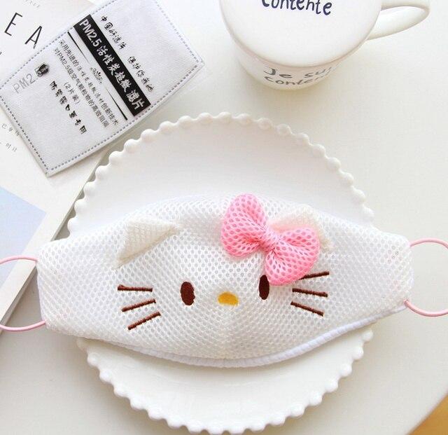 Kawaii Hello Kitty 2colors Fabrics Sanitary Mouth Mask Girls Face