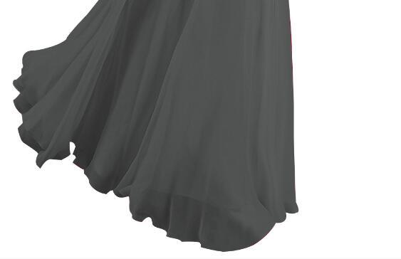 [Распродажа] шифоновое вечернее платье Длинное Элегантное длинное вечернее платье с блестками и бисером на шнуровке сзади милое - Цвет: Grey