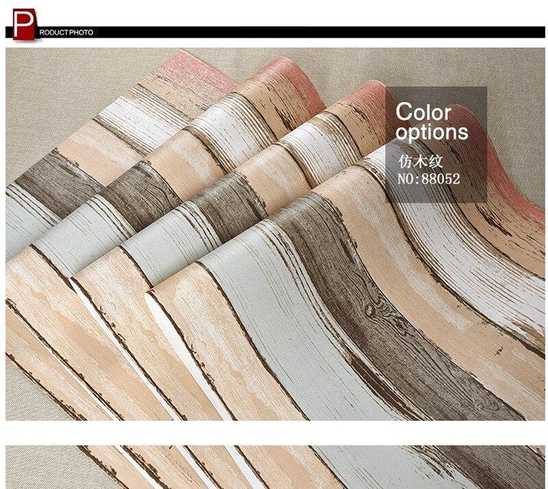 Us 57 12 Striped Wallpaper 3d Vinyl Wall Art Retro Nostalgic Color 3d Wooden Wall Murals Thicken Interior Wallpaper Home Decor Bedroom In Wallpapers