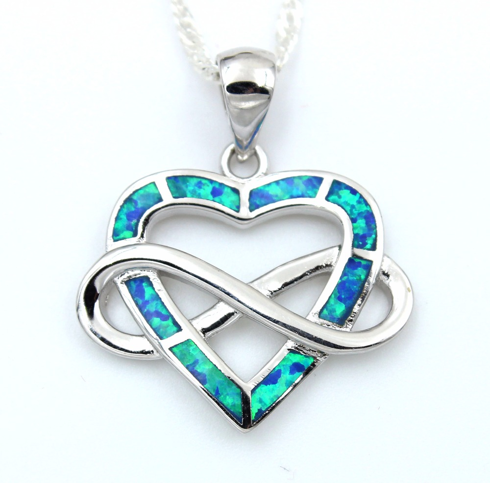 and w necklace opal heart fire green silver products pendant blue sterling