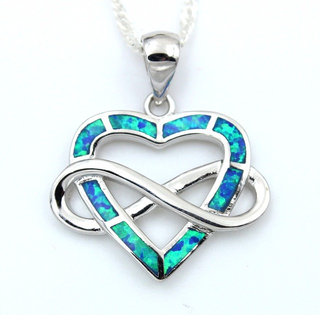 2017 new infinity blue fire opal pendant necklace in heart shape in 2017 new infinity blue fire opal pendant necklace in heart shape aloadofball Choice Image