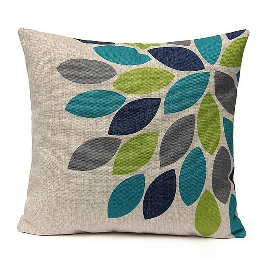 Gajjar <font><b>Pillow</b></font> Linen Printed Waist Throw Pillowcases geometric Square Dropshipping inflatable neck <font><b>pillow</b></font> for travel