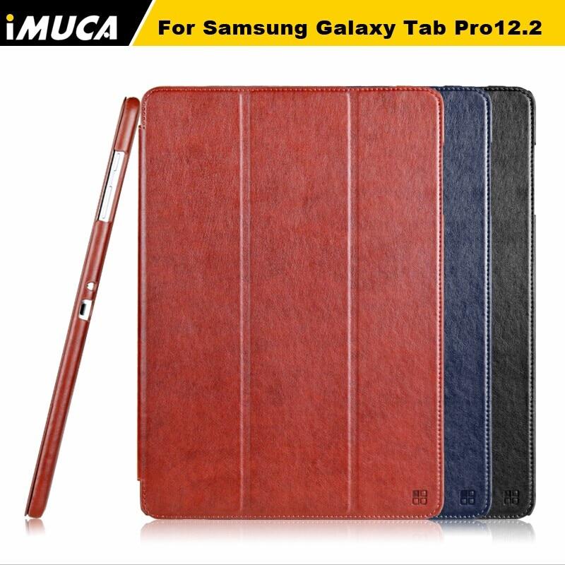 "bilder für IMUCA Tablet Hinweis Fall Magnetic Flip Abdeckung Für Samsung Galaxy Tab Pro 12,2 ""P900 P901 T900 Fall Laptop & Tablet Zubehör"