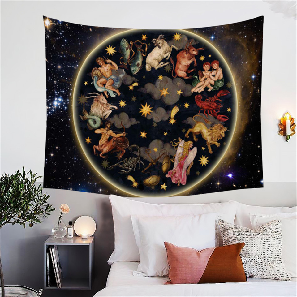 BlessLiving Galaxy Tapestry Animals Antique Asian
