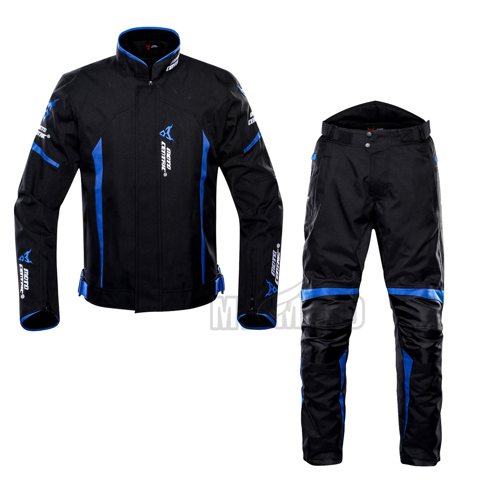 Nouveau costume de course de Moto étanche détachable équipement de protection armure veste de Moto + pantalon protecteur de hanche Moto ensemble de vêtements