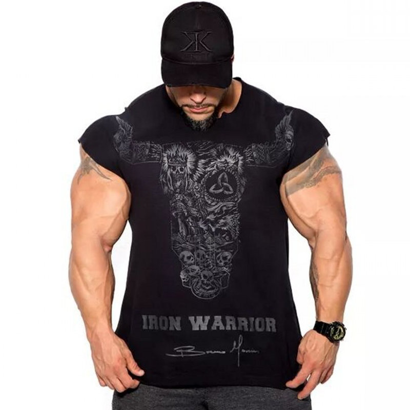 Men Gyms Fitness Bodybuilding Slim T-shirt Muscle Summer Casual T shirts Male Workout Cotton Tee Tops Boy Clothing