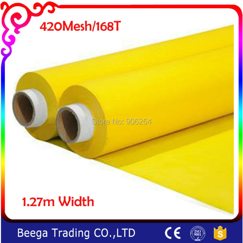Screen Printing Screen Mesh Polyester 168T Screen Silk Screening Press Frame Mesh 420Mesh High Quality and Wholesale Price exported quality screen printing frame 7 5x10 inch 19x25cm wholesale price door to door