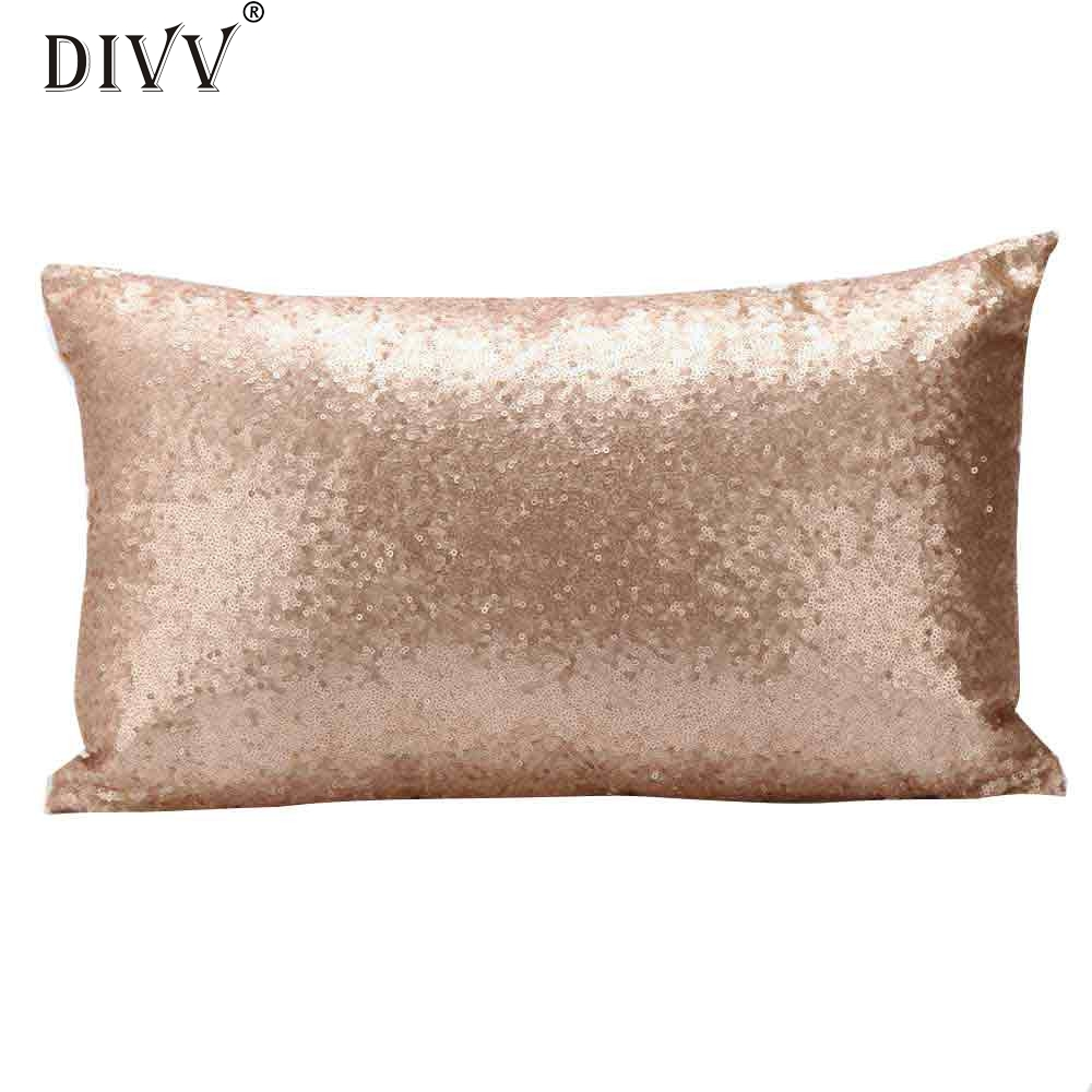 My House Sequins Sofa Bed Home Decoration Festival Pillow Case Cushion Cover 2017 New Hot Sell 17Mar7