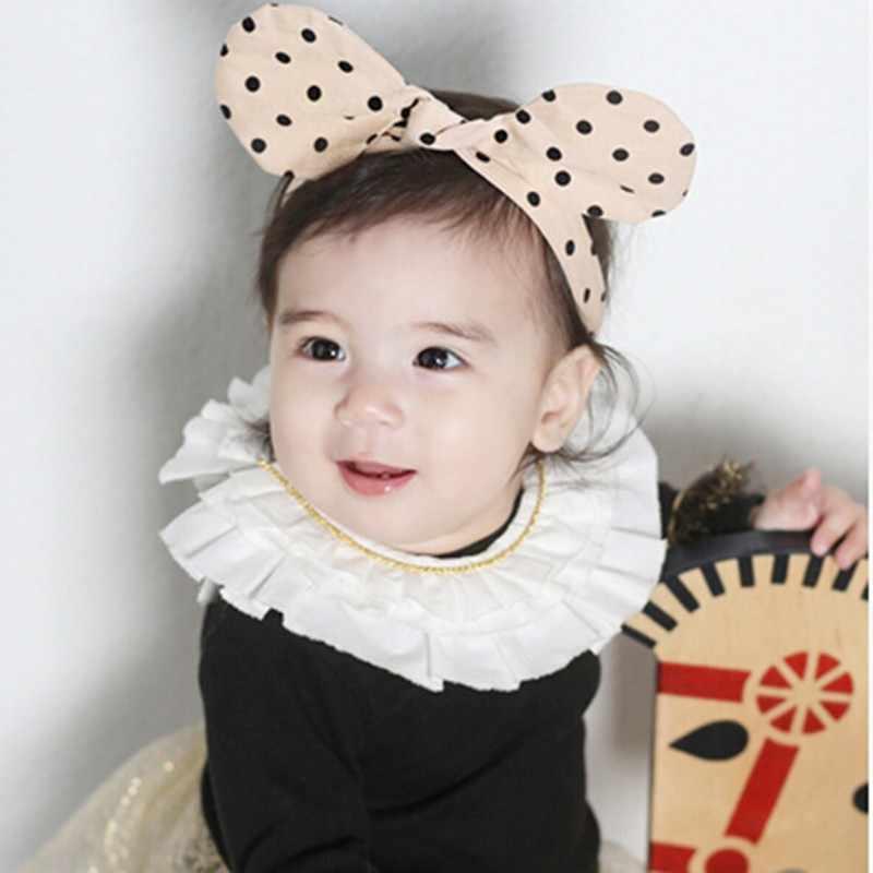 Горячая Распродажа, новая головная повязка для новорожденных девочек с бантом в горошек, реквизит для фотографий, модные аксессуары для волос для принцесс