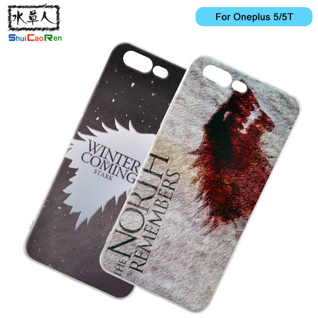 huge sale a771c 65a62 US $2.39 16% OFF ShuiCaoRen Silicone Case For Oneplus 5 / 5T Retra Game of  Thrones Cover Phone Coque Ice and Fire Fundas For Oneplus 5T-in Fitted ...