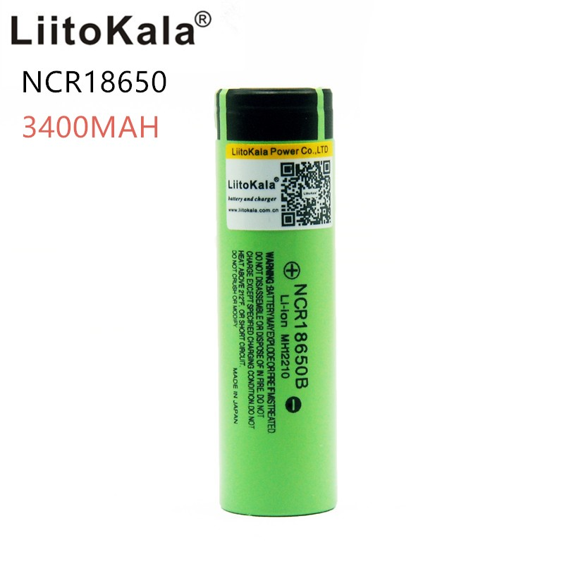 2017 Liitokala 1pcs / lot New Original <font><b>18650</b></font> NCR18650B <font><b>3400</b></font> <font><b>mah</b></font> Li-ion rechargeable <font><b>battery</b></font> 3.7V