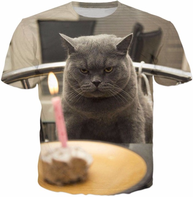 T Shirt Femme Katze Geburtstag T Shirt 3d Alten Katze Und Seine