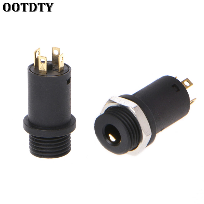 OOTDTY 10 Pcs 3.5mm 4 Channel Female Headphone Stereo Jack Panel Mount Connector Gold PlatedOOTDTY 10 Pcs 3.5mm 4 Channel Female Headphone Stereo Jack Panel Mount Connector Gold Plated
