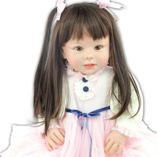 28″ 70cm Big Size Baby Reborn Dolls Toy Silicone Vinyl And PP Cotton Lifelike Reborn Babies Real Like Clothing Model Girls