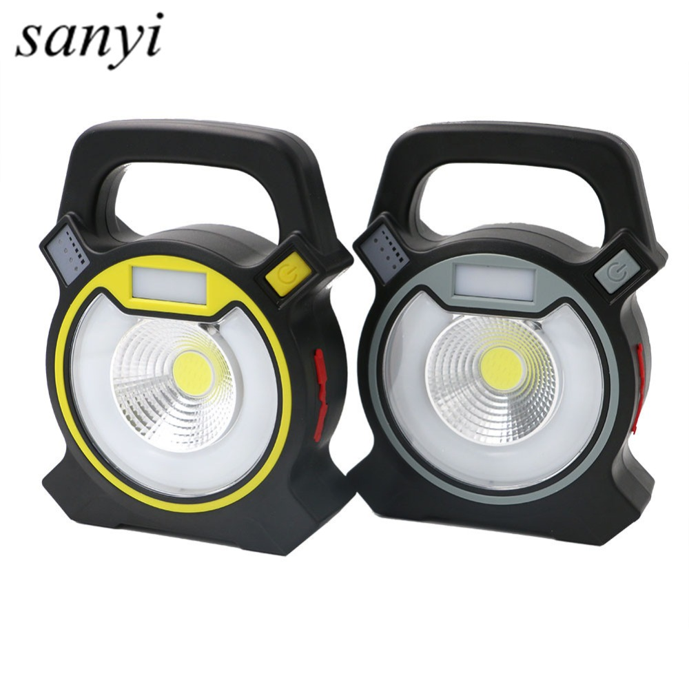 Rechargeable LED Portable Lanterns Spotlight Movable Outdoor Camping Light 30W COB LED Searchlight 4 Mode For Camping Hunting