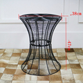 Fio de Metal de ferro pequena mesa redonda mesa de chá simples e moderno sólida sala de estar pequena criativo pequena mesa de café