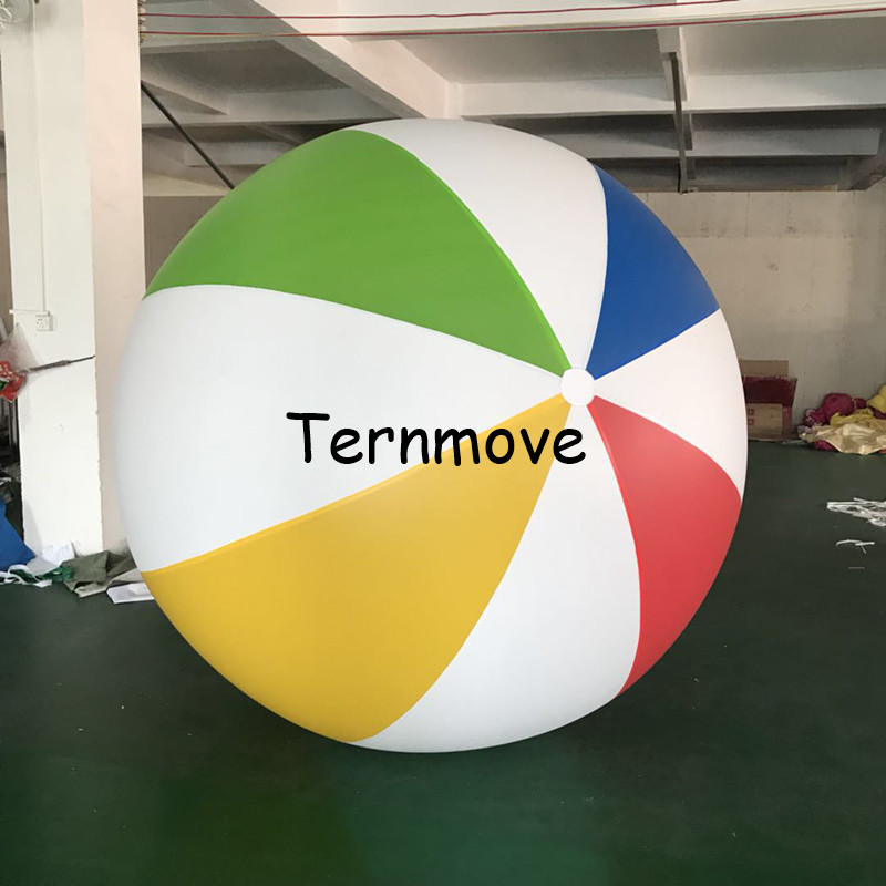 2.5m Giant Charm Colorful Inflatable Beach Ball For Women Men Kids Game Outdoor Fun Toys Balloon Volleyball PVC Pool Accessories2.5m Giant Charm Colorful Inflatable Beach Ball For Women Men Kids Game Outdoor Fun Toys Balloon Volleyball PVC Pool Accessories