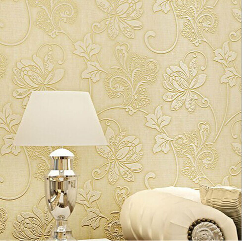 FREE SHIPPING Luxury Non Woven Damask Wallpaper Design