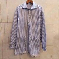 Полосатые рубашки для Для женщин с длинными рукавами и отложным воротником Мода Высокое качество Женские OL рубашки 2018 Новый Для женщин руба