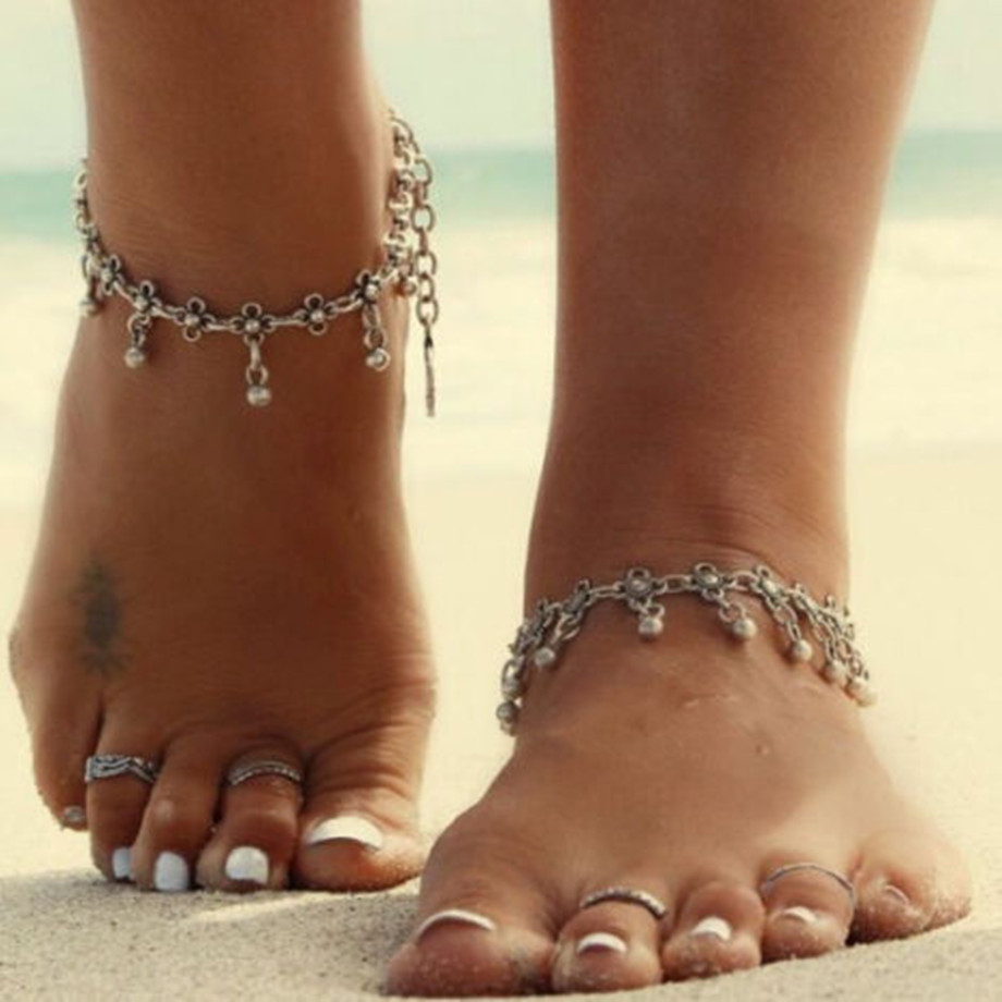 New Fashion Accessories Jewelry Silver Chain Anklet, 5cm Adjustable Charm Anklet,Ankle Leg Bracelet,Foot