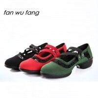 Fan Wu Fang 2017 New Arrival Cut Outs Upper Pleuche Soft Sole Dance Sneakers Modern Jazz