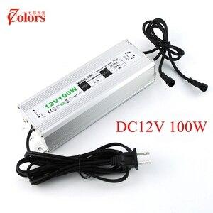 12 V 100 watt Stromversorgung für LED-Licht Wasserdicht IP67 Transformator 220 V 12 V EU UNS UK AU Stecker Led-treiber mit 2 männlichen stecker