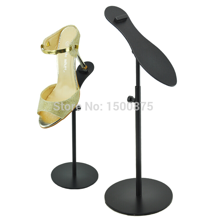 Black Powder Metal Shoe Display Stand Shoe Riser Stand Shoe Holder Shoe Display Rack цена
