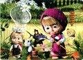 Бумаги плоские Головоломки Игрушки Для Детей Маша И Медведь Томас миньоны головоломки Образовательные игрушки для детей