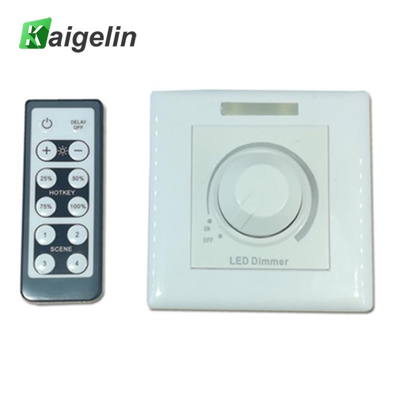 Infrared Remote Control Switch LED Dimmer 220V 110V LED Stepless Trailing Edge Phase Dimmer 86 Type Dimmer For LED Lamps