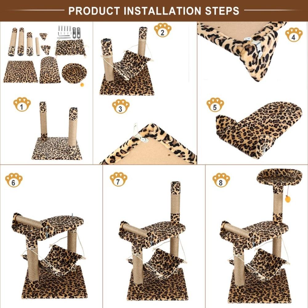 Leopard Print Cat Tree Condo Scratcher