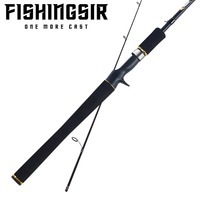 FISHINGSIR Dreamcaster Fishing Rod 2.01m, 2.13m 2 Section M MH Power Carbon Fiber Spinning/Casting Travel Rod Sea Fishing Pole