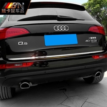 For Audi Q5 2009 2010 2011 2012 2013 2014 2015 2016 Stainless Steel Rear Trunk Steamer Tail Trunk Lid Cover Trim Car Accessories