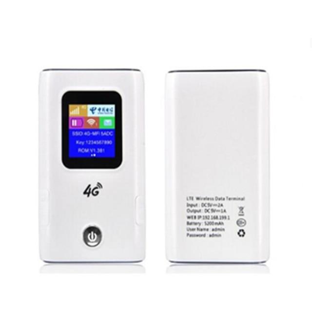 KuWFi 4G LTE راوتر لاسلكي 4G 5200mAH قوة البنك المحمولة واي فاي جهاز توجيه ببطاقة Sim فتحة دعم 10 مستخدمين
