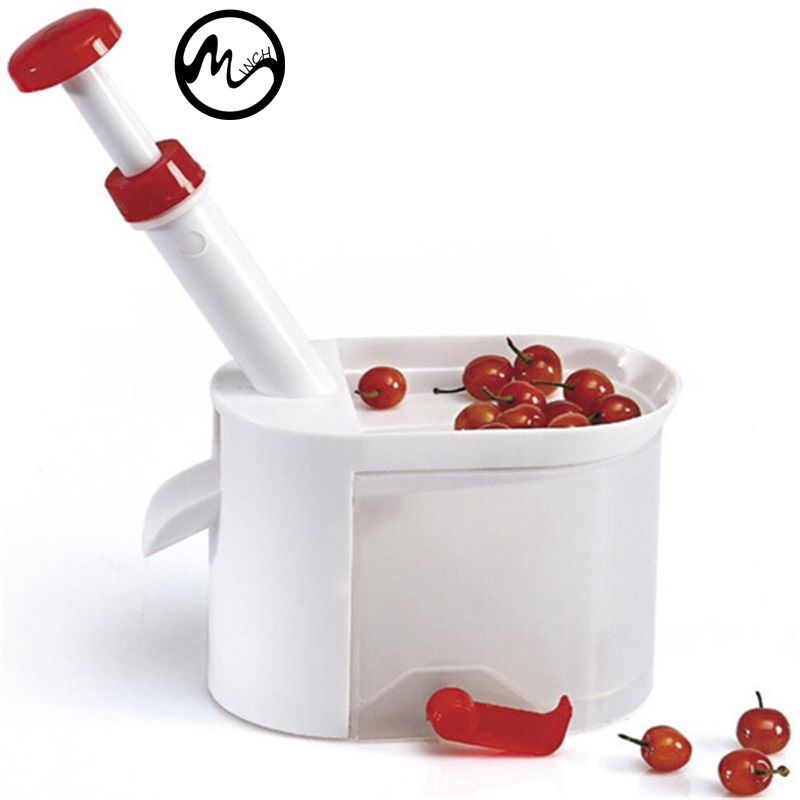 Minch Cherry Pitter Seed Remover Machine Cherries Corer With Container Kitchen Gadgets Tool