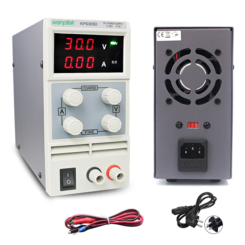 KPS305D mini laboratory power supply adjustable digital led switching power supply 0.1V 0.01A voltage regulators dc power supply kuaiqu mini dc power supply switching laboratory power supply digital variable adjustable power supply 0 60v 0 5a ps605d