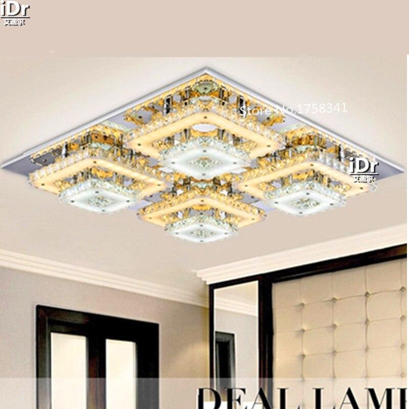 US $310.44 61% di SCONTO|Vendita calda camera da letto lampade Camera Da  Letto luci LED Lampadari moderni cristallo di Diamante L670xW670xH120MM-in  ...