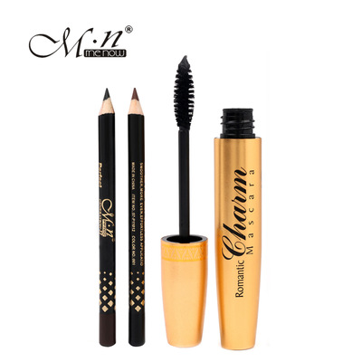 by DHL 200Set Hight Quality M.n Menow Brand makeup Golden tubes thick mascara Set With G ...