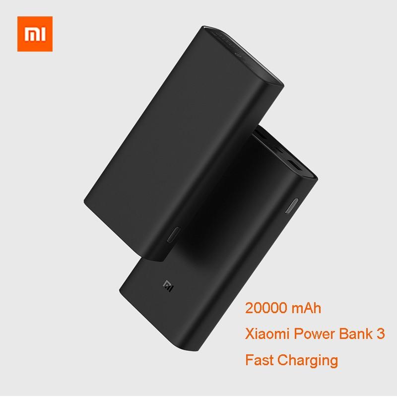 Original Xiaomi Power Bank 20000mAh Fast Charging Dual USB Mi External 20000 Battery Bank3 for Smart remote control profuctOriginal Xiaomi Power Bank 20000mAh Fast Charging Dual USB Mi External 20000 Battery Bank3 for Smart remote control profuct