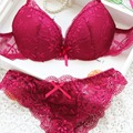 Women Lady Cute Sexy Underwear Satin Lace Embroidery Bra Sets With Panties New