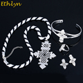 Ethlyn Brand Ethiopian Eritrean Cross Women Jewelry Sets Gold Plated African Bridal Romantic Wedding Party  Jewelry  S68