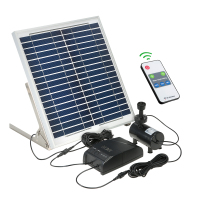 Multi functional Solar Power Fountain Solar Panel + 3.6W Brushless Water Pump Kit with Storage Battery for Garden Pond Bird Bath