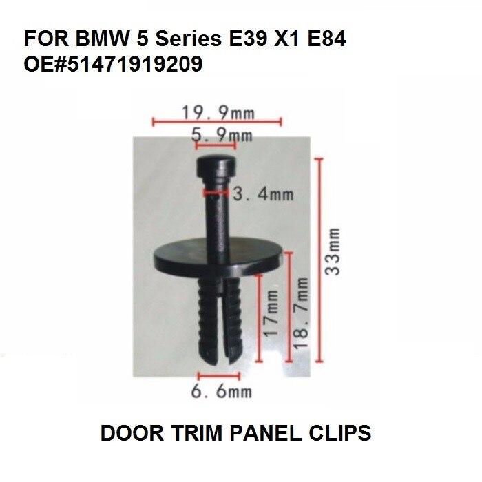 10x PASSARUOTA Surround Trim Clip per Nissan Juke /& X-TRAIL-Wing stampaggio clip