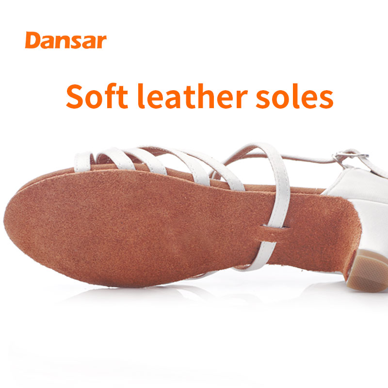 White Girls 39 Latin Dancing Shoes For Children Beginners Professional Girls Perform Soft Soles In Adult Dancing With Low Heel in Dance shoes from Sports amp Entertainment