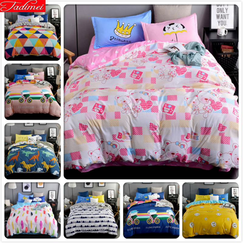 Realistic Lover Sweet Winter Aole Cotton Bedlinens 3/4 Pcs Bedding Sets 4pcs Beds Suit Kids Bedclothes 1.5m 1.8m 2.0m Duvet Cover Bedsheet Power Source