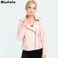 MissFoFo 2017 New Spring Fashion Women S PU Leather Jacket New Ladies Basic Jacket Cool Outerwear