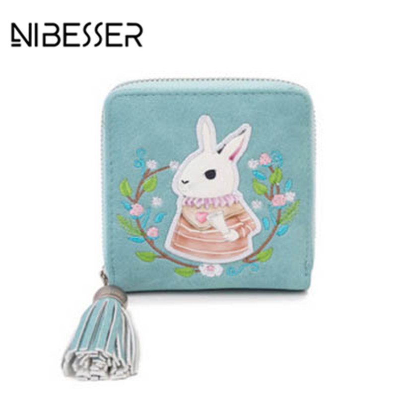 NIBESSER Rabbit Embroidery Women Handbag Tassel Pendant Sweet Day Clutches Girls Purse Female Casual Bags Women Minimalist Bag
