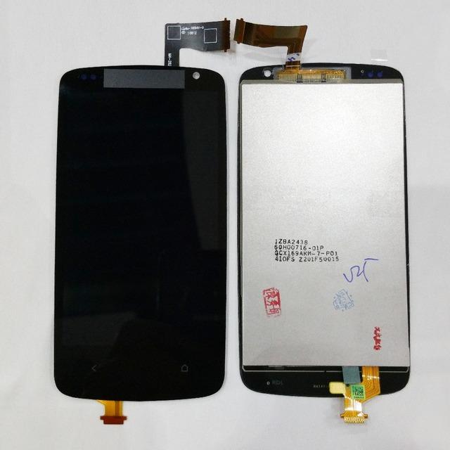 Para htc desire 500 pantalla lcd con pantalla táctil digitalizador asamblea negro