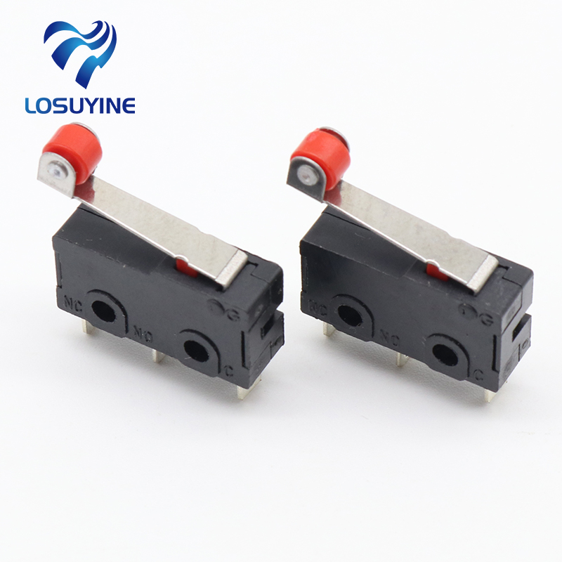 10 Pcs Mini Micro Limit Switch Roller Lever Arm SPDT Snap Action LOT 5pcs safety micro limit switch v 15 1c25 roller lever snap action 250v 16a s08 drop ship